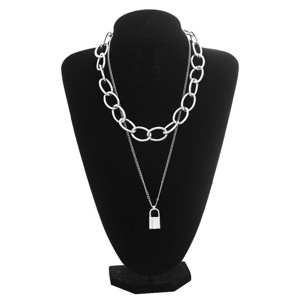 Pastel gothic E-girl Thick Massive Chain Choker 52