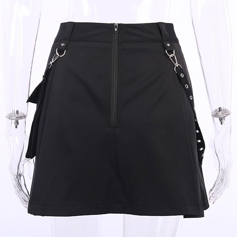 Black Skirts with Bandage Pastel gothic E-girl 44