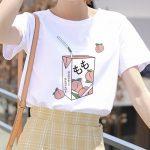 Cartoon Peach print T-shirt 35