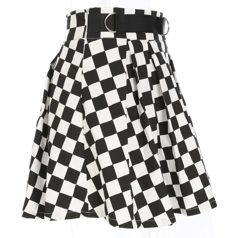 Checkered Harajuku Skirt E-girl 43