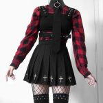 Gothic Mini Skirts with cross 3