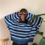 Striped loose sleeves pullover  11