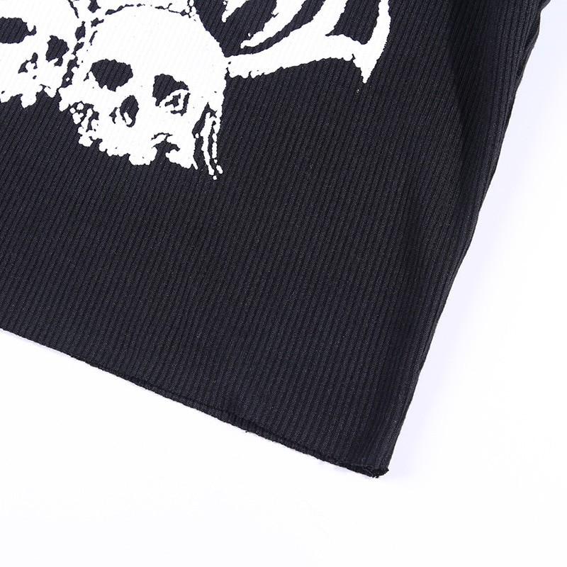 Skull Print Tank Top Y2K aesthetic 46