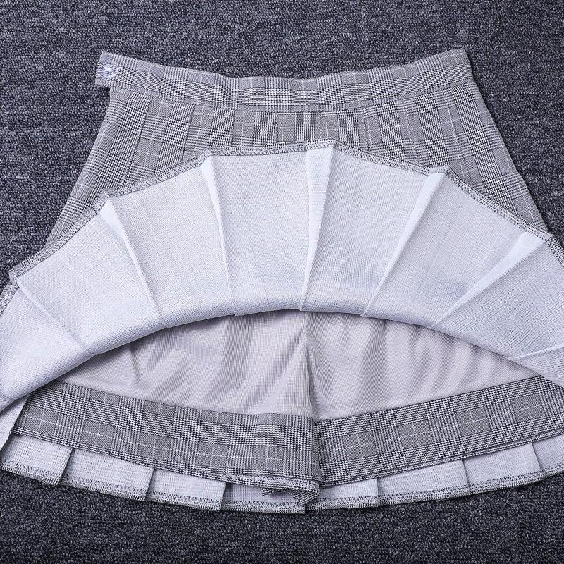 Egirl Harajuku Soft girl Plaid Pleated Mini Skirt 51