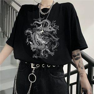 Dragon print T-shirt 1