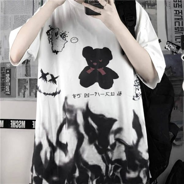 Harajuku streetwear loose T-Shirt 4