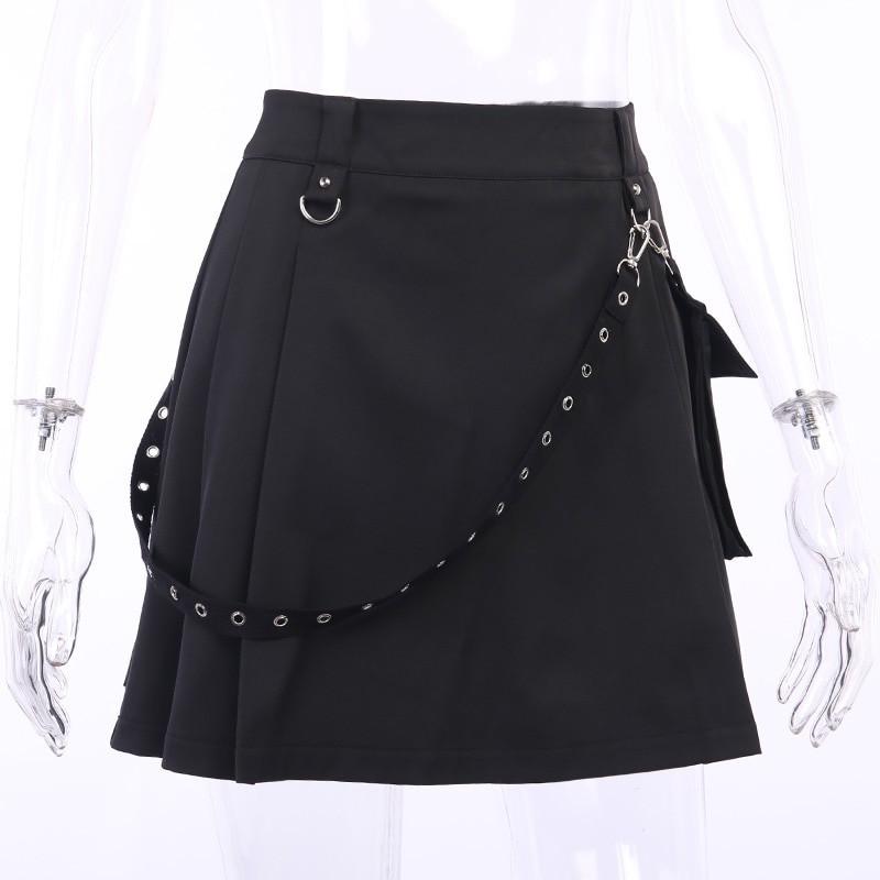 Black Skirts with Bandage Pastel gothic E-girl 42