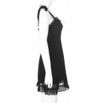 Gothic E-girl Black Mini Dresses 3