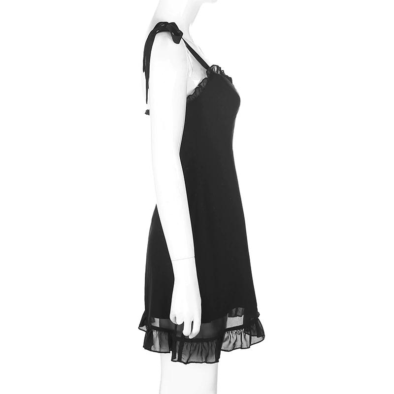 Pastel gothic E-girl Black Mini Dresses 42