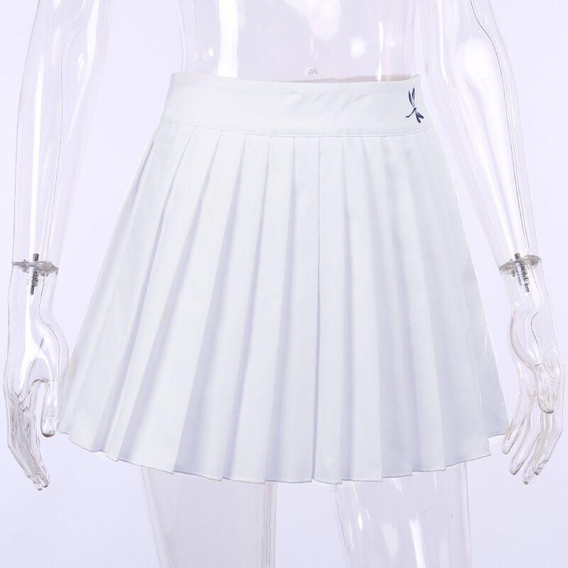 Pleated Mini Skirt with dragonfly E-girl Soft girl 42