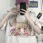 Cute anime print Harajuku T-shirt 2