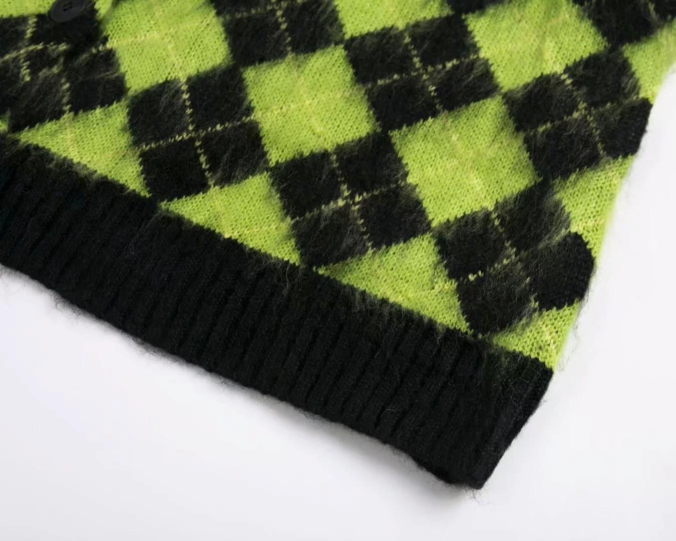 Punk Vintage knitted oversized cardigan 46