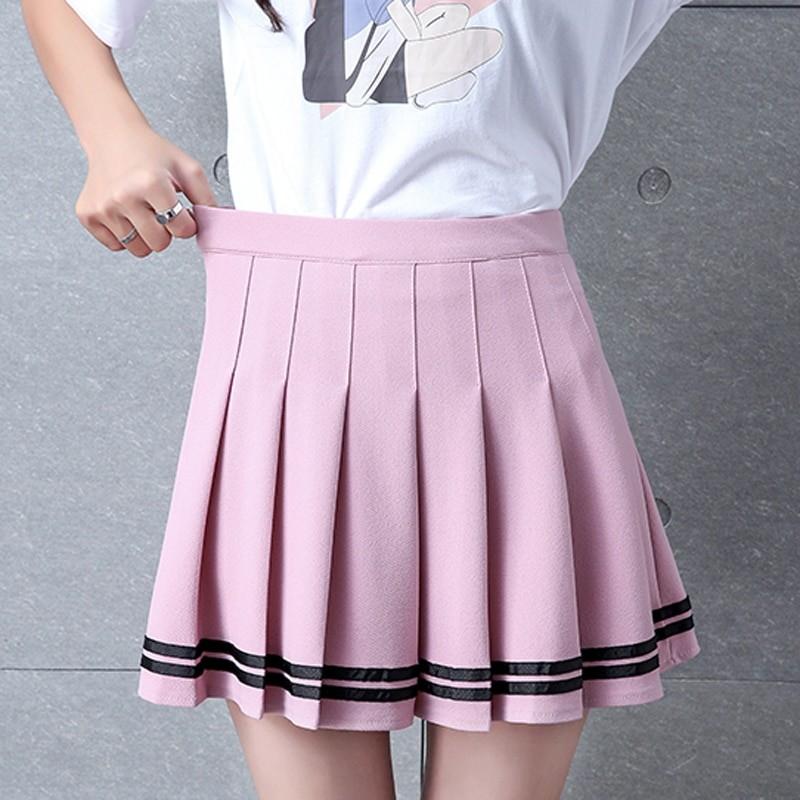 High Waist Striped Skirt E-Girl Soft girl 41