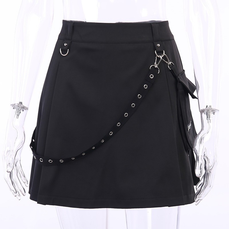 Black Skirts with Bandage Pastel gothic E-girl 41