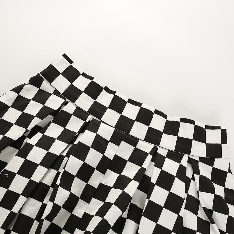 Checkered Harajuku Skirt E-girl 47