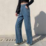 High Waist Harajuku Straight Jeans 4