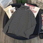 Striped Turtleneck T-shirts 2
