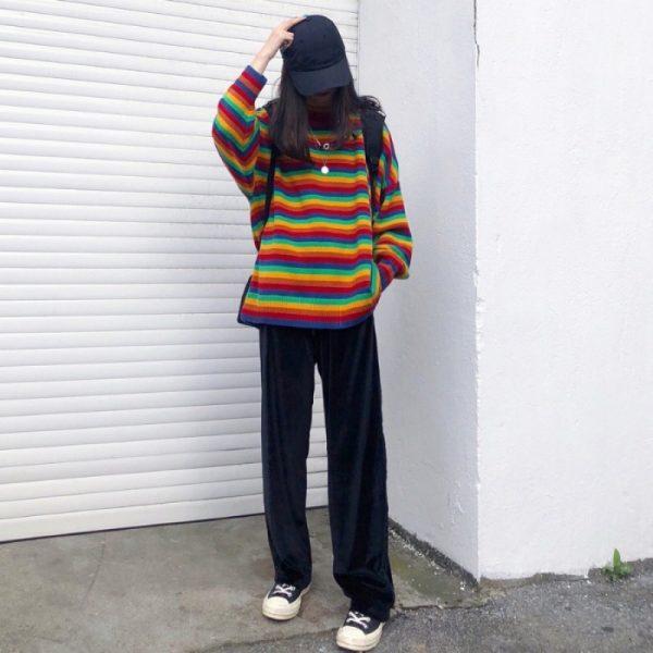 Loose Striped Sweater 4
