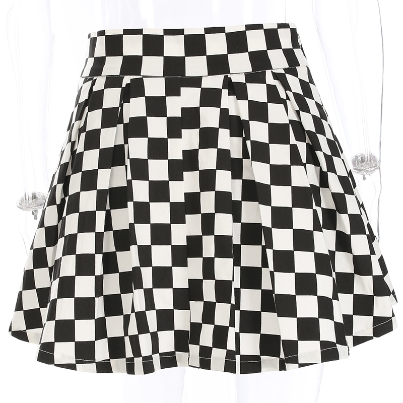 Checkered Harajuku Skirt E-girl 44