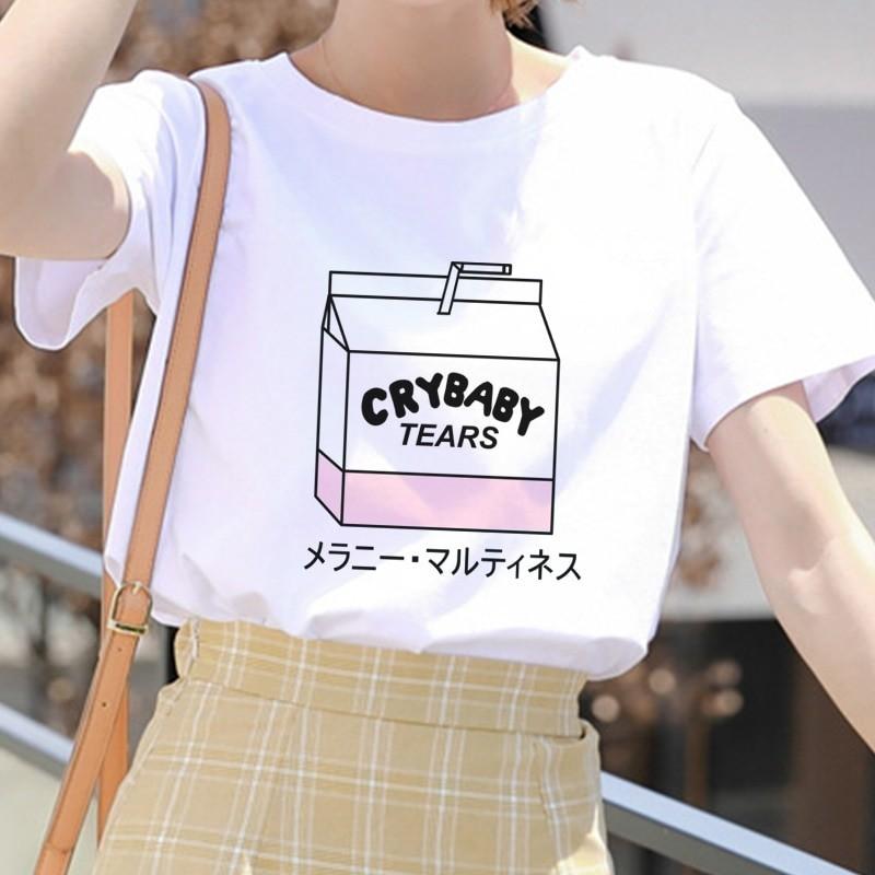 E-girl Soft girl Cartoon Peach print T-shirt 45