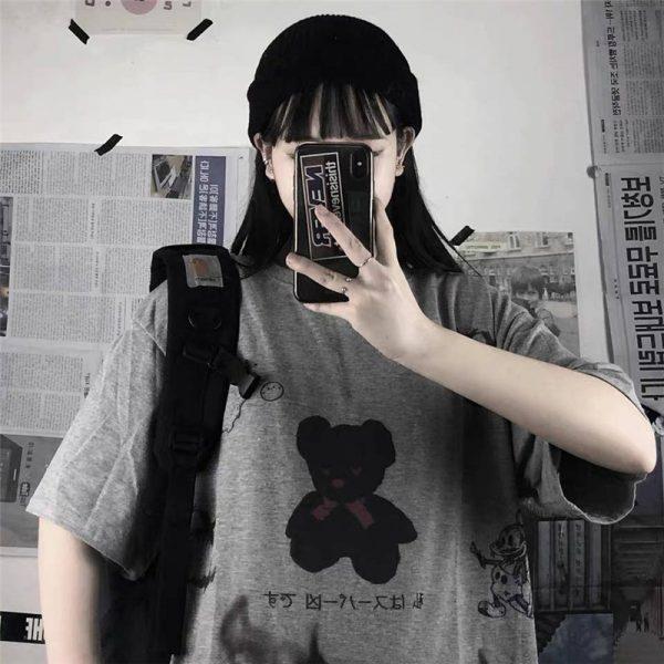 Harajuku streetwear loose T-Shirt 2