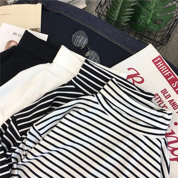 Striped Turtleneck T-shirts 6
