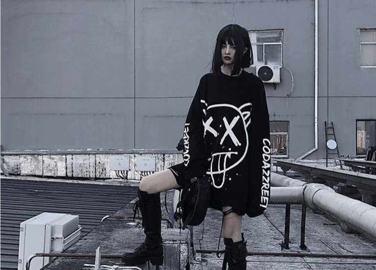 Harajuku E-girl Oversized long sleeve t-shirt 42
