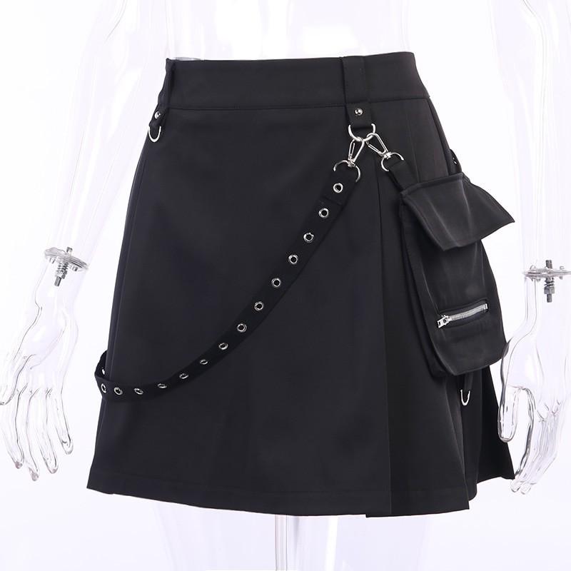 Black Skirts with Bandage Pastel gothic E-girl 43
