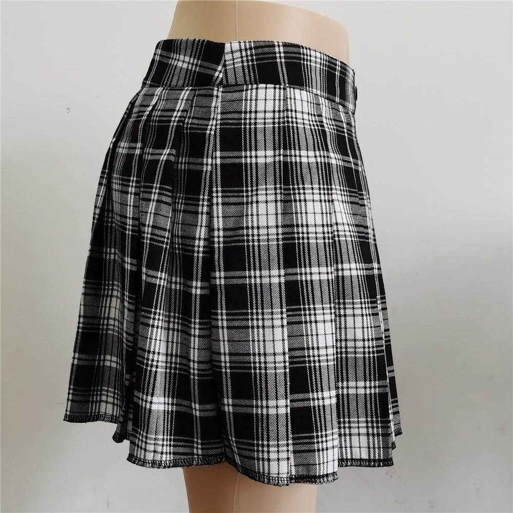 Harajuku T-girl Open Pleated Mini Skirt with shorts 46
