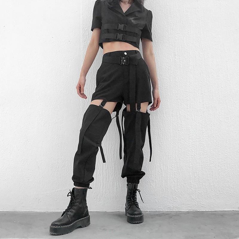 Cargo Hollow Out Pantalon E-girl 41