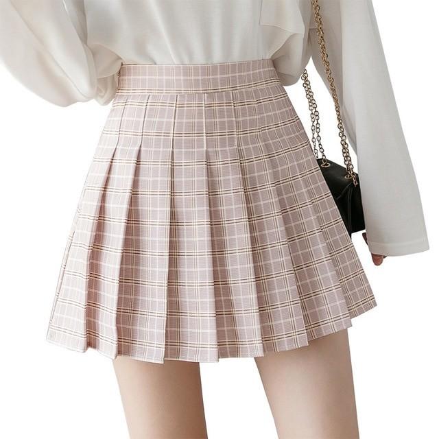 High Waist Striped Skirt E-Girl Soft girl 47