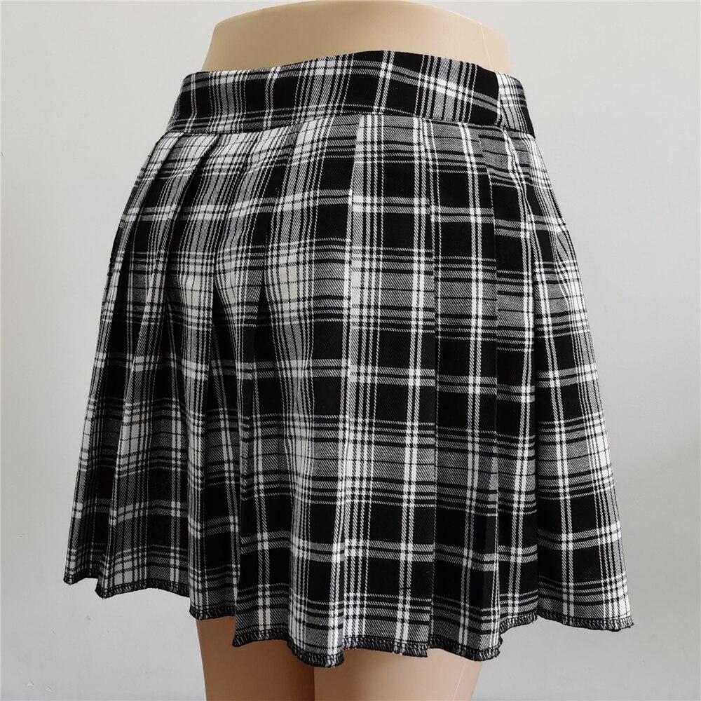 Harajuku T-girl Open Pleated Mini Skirt with shorts 45
