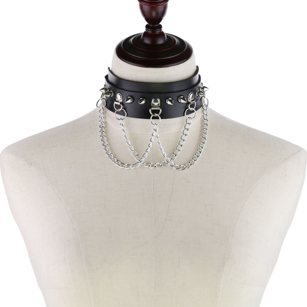 Choker With Spikes and Chains Pastel gothic E-girl 42