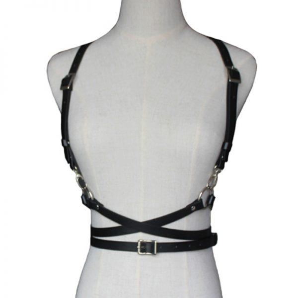 Leather Body Bondage Waist Belt 3