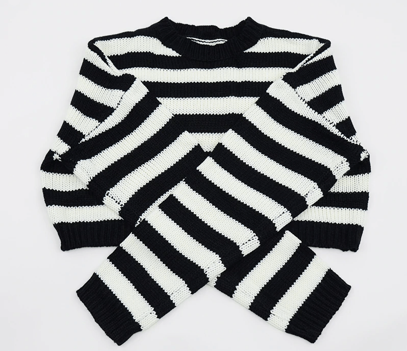 Grunge Striped oversize cropped Sweater 44