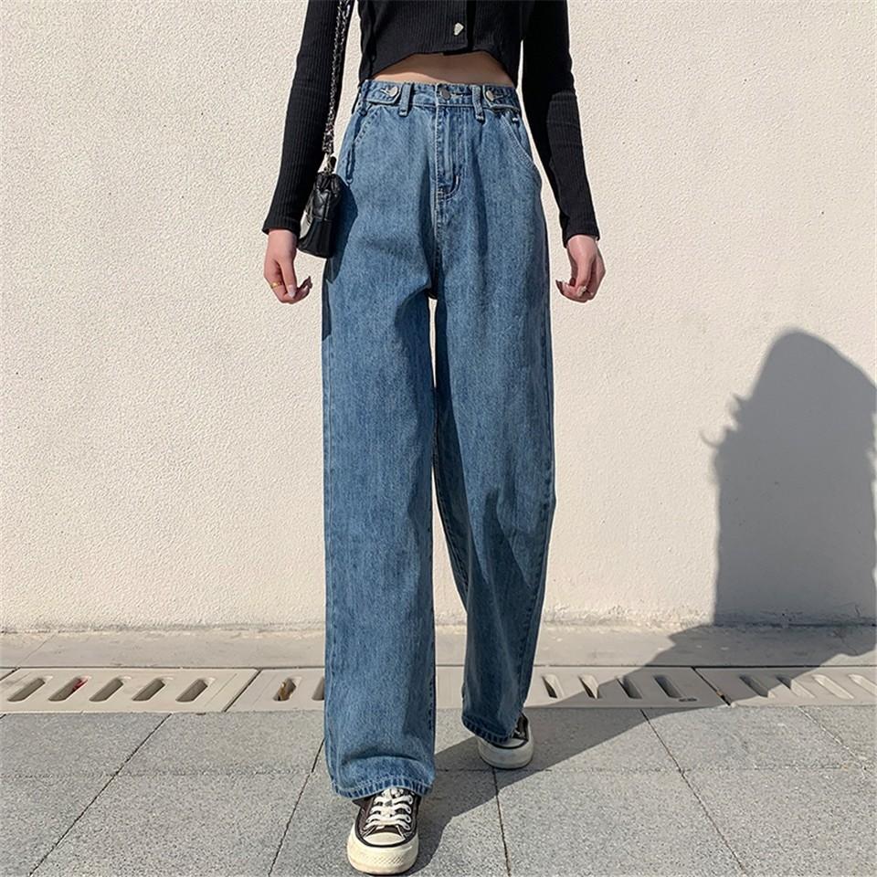 E-girl Soft girl High Waist Harajuku Straight Jeans 46