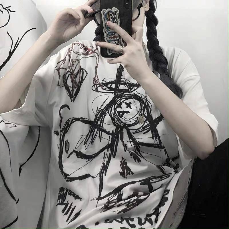 Harajuku T-Shirt with Angel print 42