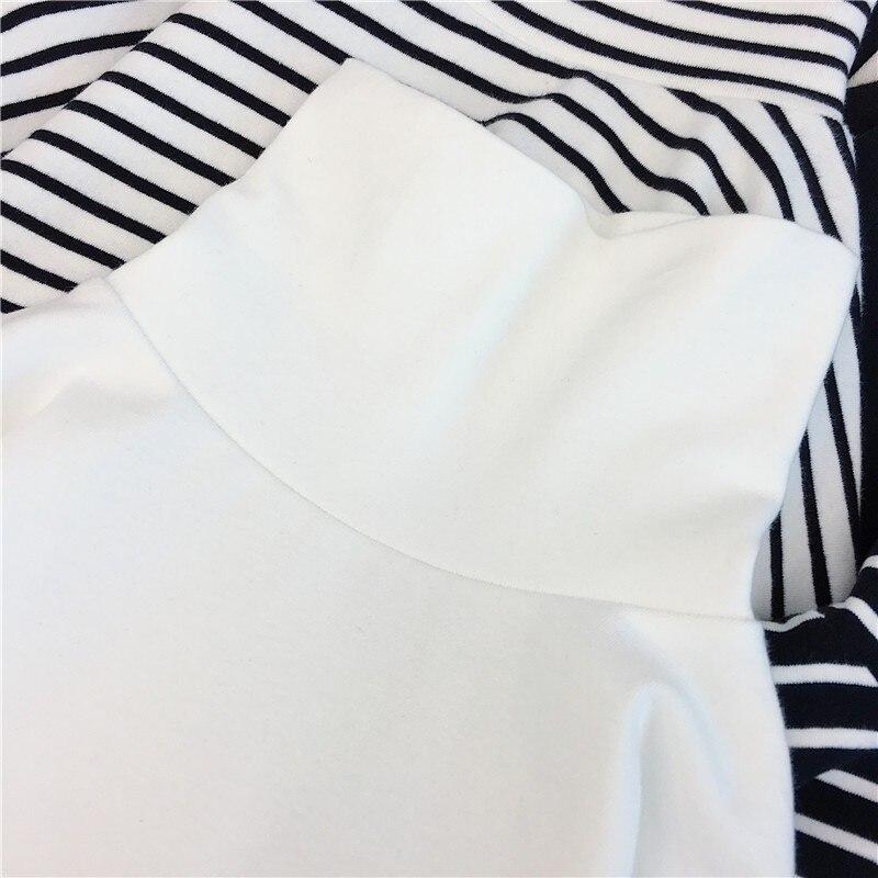 E-girl Harajuku Striped Turtleneck T-shirts 44