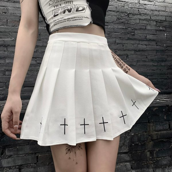Gothic Mini Skirts with cross 6
