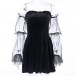 Gothic Mesh sleeve Vintage Dresses 6