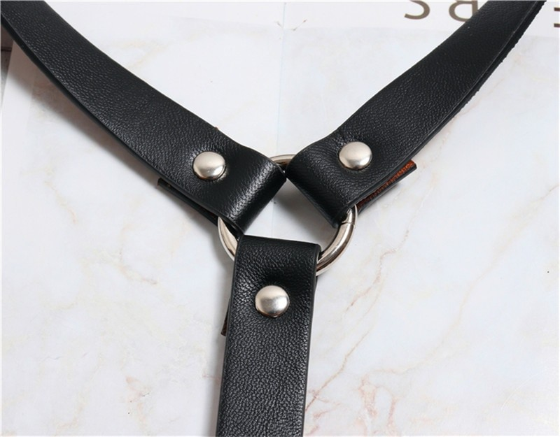 Pastel gothic Leather Body Bondage 51
