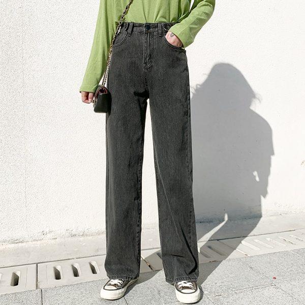 High Waist Harajuku Straight Jeans 2