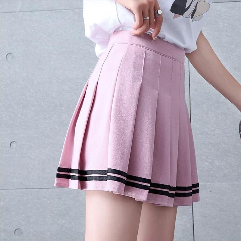 High Waist Striped Skirt E-Girl Soft girl 42