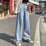 High Waist Harajuku Straight Jeans 5