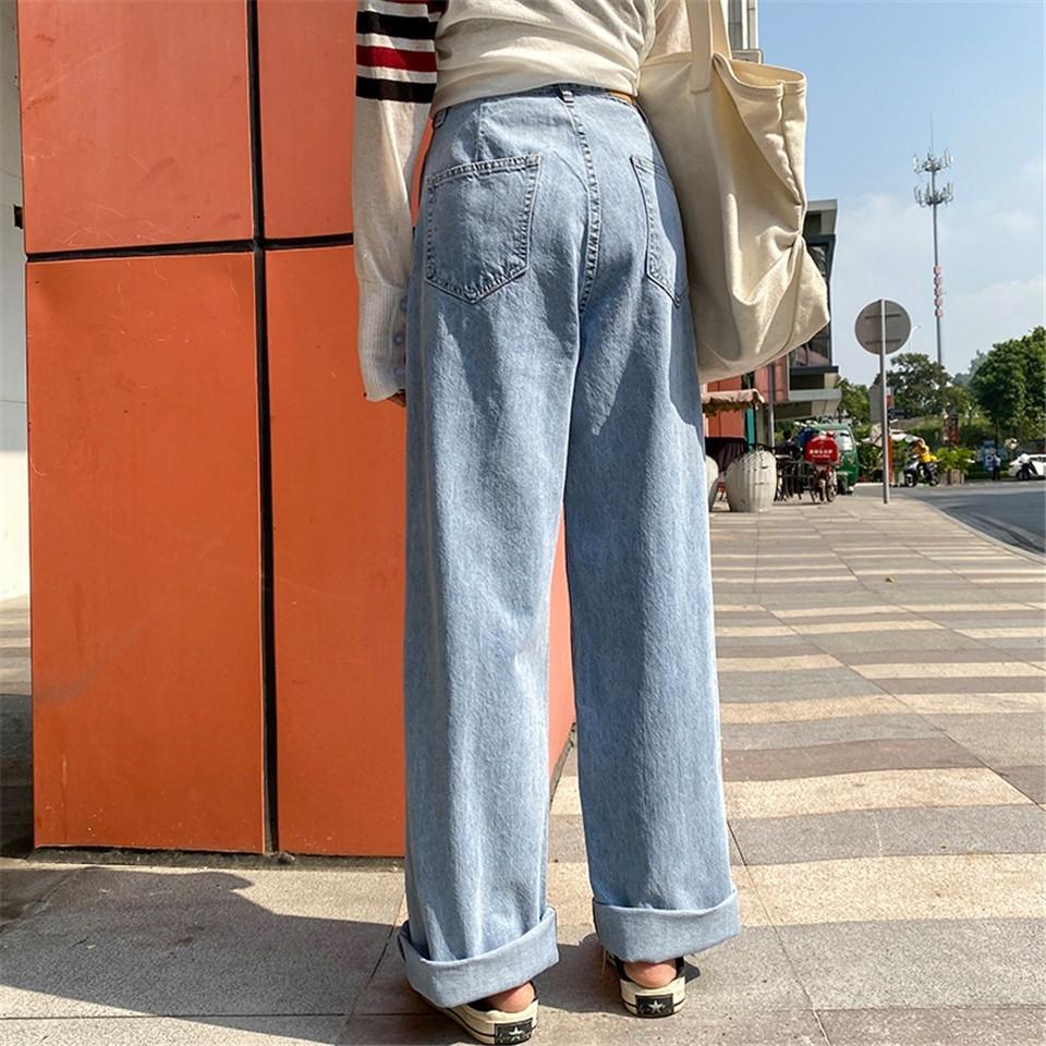 E-girl Soft girl High Waist Harajuku Straight Jeans 47