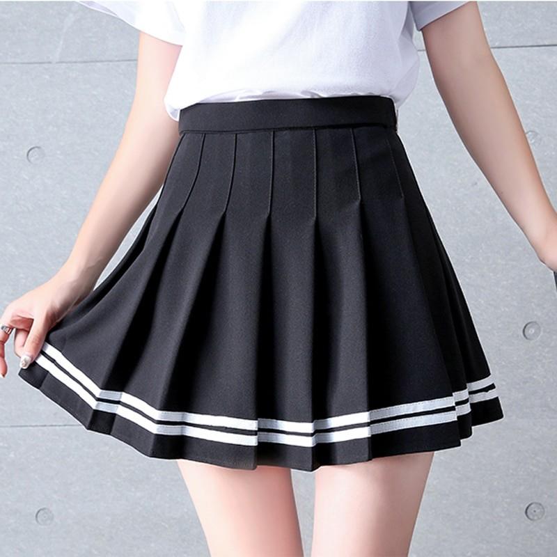 High Waist Striped Skirt E-Girl Soft girl 45