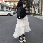 Asymmetrical Ruffle Maxi Skirt 6