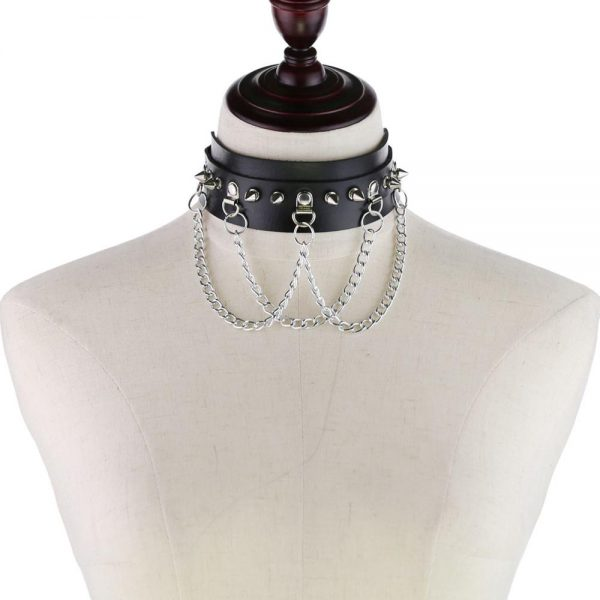 Choker With Spikes and Chains 2