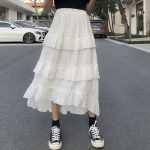 Asymmetrical Ruffle Maxi Skirt 4