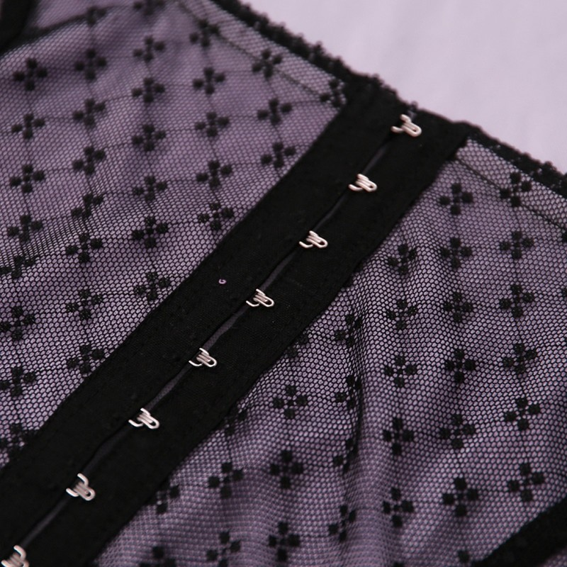 Sleeveless Lace Crop Top Y2K aesthetic 44